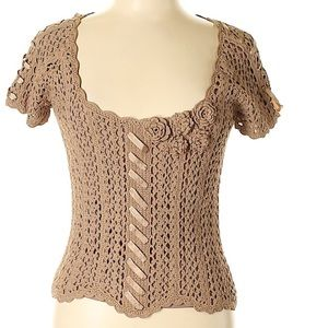 Stunning Crochet/Ribbon Accent Dolce Cabo (NWOT)